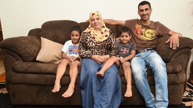 Syrian family in the mercury