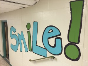 Willow Road PS Smile wall